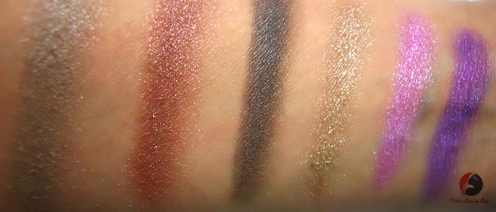 Swatches of second row