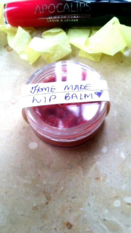 Home made lip balm