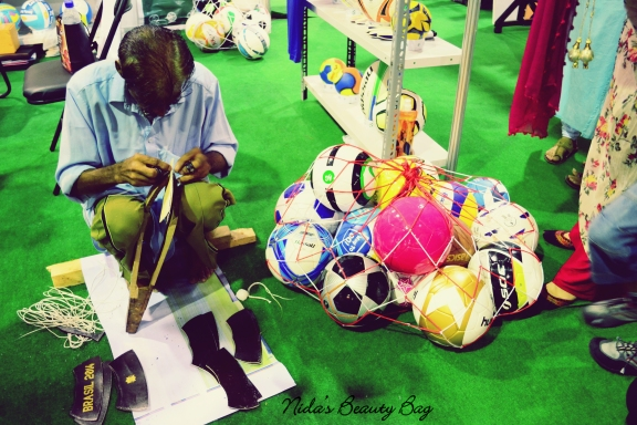 Our hardworking football maker
