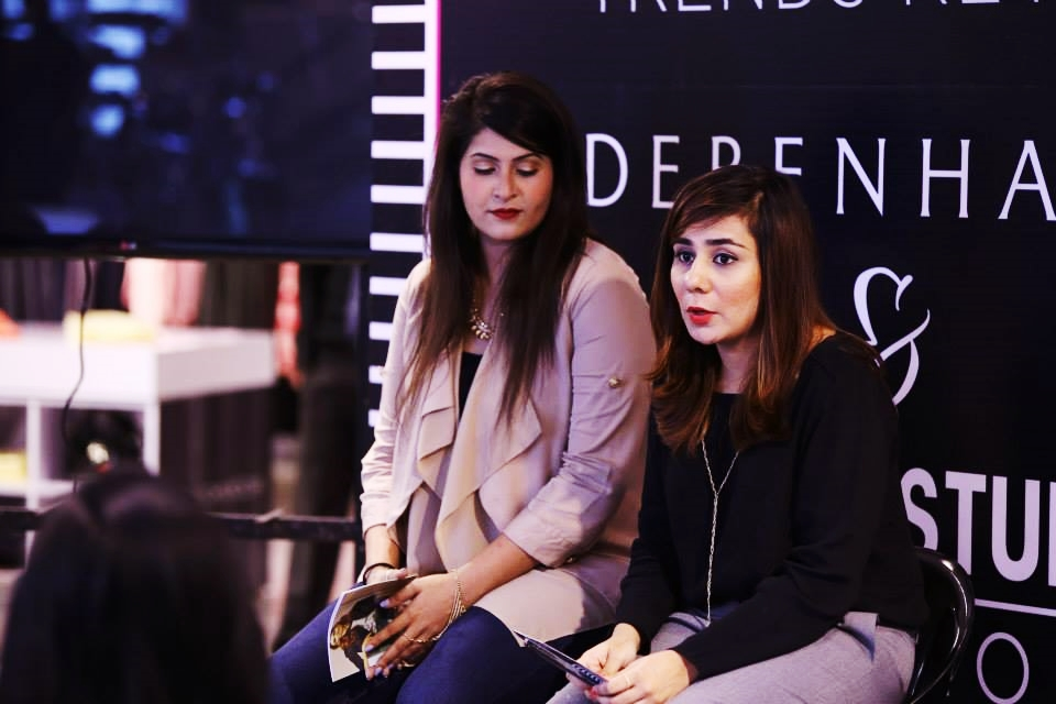 Areeba and Farah again while giving the intro of Makeup Trends and CC New Products