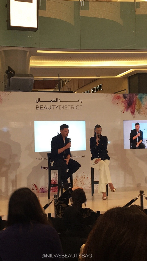 Q/A session at Beauty District