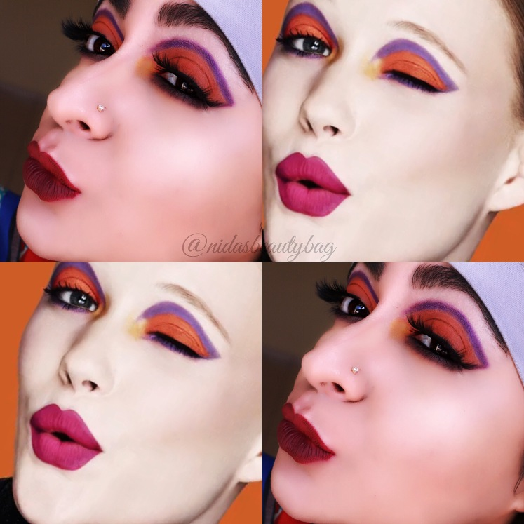 And the whole face comparison, I changed the lip color coz I couldn't find similar shade